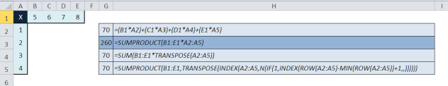 Non-Array TRANSPOSE 4